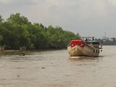 Eyes ahead (program monkey) Tags: vietnam mekong river delta boat cargo ben tre tra vinh eyes buoy