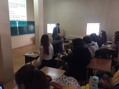 "Al-Farabi Kazakh National University - Lecture delivering <a style=""margin-left:10px; font-size:0.8em;"" href=""https://www.flickr.com/photos/89847229@N08/31002104720/"" target=""_blank"">@flickr</a>"