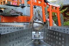 (TheOneShot (Gunnar Marquardt)) Tags: sign zodiac fate fortune shrine orange snake metal detail torii famous wheel fushimiinaritaisha kyoto japan canon eos60d
