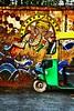 Roadside Ganpati (foodiee) Tags: colorful delhi connaughtplace canon70d autorickshaw ganpati graffiti wallart paint winter