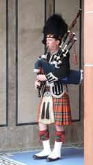 the piper plays the tune (areavie@gmail.com) Tags: tartan bagpipes piper scotland spats kilt ibrox glasgow saint leonards wedding photographer gps geotag rangers football club rfc panasonic tz10