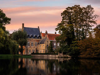 Sundown at Minnewater Park - Bruges, Belgium