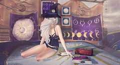 Cosmic Lace (Duchess Flux) Tags: arcade enchantment ultra blacklace olive pulse deetalez catwa arte lepoppycock secondlife witch fantasy magic sl shinyshabby mori kinkyevent