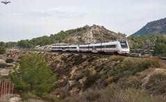 Regional Murcia - Cartagena (lagunadani) Tags: paisaje 599 doble renfe sonya7 murcia cartagena caf diesel
