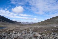 Desolate landscape (P. Burtu) Tags: hiking vandra norrland sverige sweden sommar summer lappland lapland landskap landscape moln berg mountain clouds himmel sky sten stone