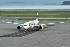 WHISKEY FOXTROT (Rich Snyder--Jetarazzi Photography) Tags: finnair fin ay airbus a350 a350900 a350941 a359 ohlwf arriving arrival taxi taxiing sanfranciscointernationalairport sfo ksfo millbrae california ca airplane airliner aircraft jet plane jetliner ramptowera rcta atower