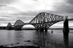 Going black and Forth (beqi) Tags: 2016 architecture bridge forthbridge forth ironwork railway southqueensferry