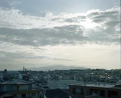 cityscape/mountainscape (troutfactory) Tags: sky film japan clouds mediumformat landscape view rangefinder  osaka analogue 6x7  kansai     mountrokko kodakportra800 rokkomountain  fujifilmgf670 voigtlanderbessaiii