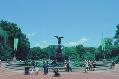 Bethesda. (saul1494) Tags: park city nyc travel summer people usa newyork tree green nature water fountain america nikon day centralpark central bethesda eeuu nikonista vsco d5100 vscocam vscogrid
