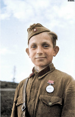 "Young Soviet scout, awarded the medal ""For Courage"". Kalinin Front 1942 (Za Rodinu) Tags: world 2 man men history vintage soldier war gun russia military rifle rifles front german weapon ww2 soldiers historical guns 1942 1945 rare troops 1944 1943"