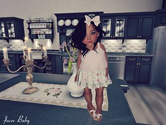 dinner ready (Jacee Baby) Tags: baby cute kitchen kids dinner truth sl secondlife poses overlow toddleedoo