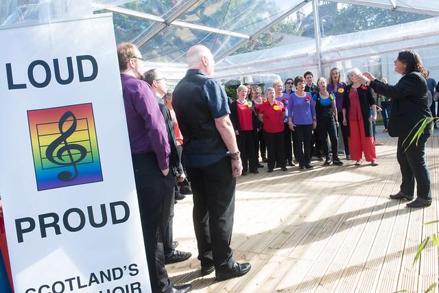 Loud & Proud Choir open the Book Festival