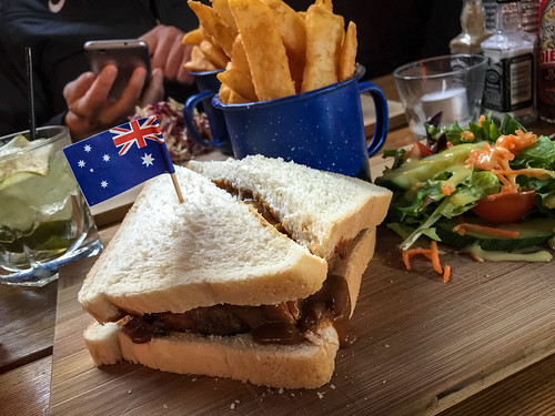 Rissole sandwich at Sweetwater Inn in South Yarra