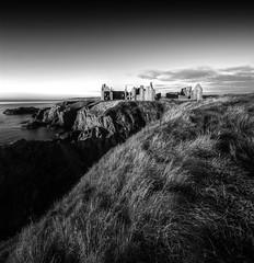 Slains Castle (Explored) (PeskyMesky) Tags: blackandwhite monochrome scotland blackwhite aberdeenshire aberdeen northsea slainscastle northeastscotland