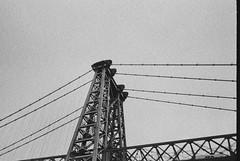 (Bindaas High) Tags: nyc newyorkcity blackandwhite bw black film 35mm brooklynbridge mywork darkart 800iso artistsontumblr photographersontumblr bindaashigh