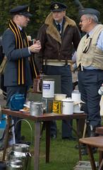 Tea while we wait anyone (Beth Hartle Photographs2013) Tags: duxford reenactment raf scramble dispersal homeguard wraf middlewallop 609sqndispersal 1940battleofbritainairshow airtrafficcontrolcaravan wrafdriver 1937vauxhallcar