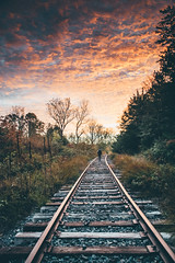 Keep running until you find what you are looking for (Graham_Johnson) Tags: sunrise nikon exploring traintracks runningaway langly nikonphotography d5300