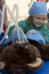 Teddy Bear Surgery (K.Logan.Sullivan) Tags: portland erin hawthornestreetfair teddybearsurgery