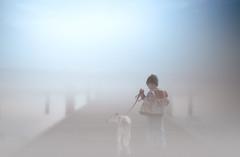 Misty Morning (wowography.com) Tags: wowographycom smithtown ny longisland misty fog boy dog morning dock walking pier 3948974 foggy 2015 landscape nikon d610 1635mm justycinmd art dreamy people explore 4000000views lightroom6 tomreese photography 500px