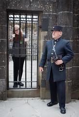 Rosy in Inveraray jail 01 aug 15 (Shaun the grime lover) Tags: yard keys scotland costume bars uniform exercise cage jail warden cells rosy inveraray jailer