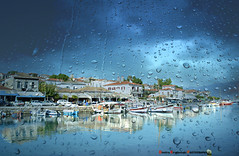 Galaxidi in rain (Love me tender .**..*) Tags: november sky seascape colors rain clouds reflections landscape greek photography flickr greece dimitra 2015 galaxidi nikond3100 kirgiannaki nomosvoiotias