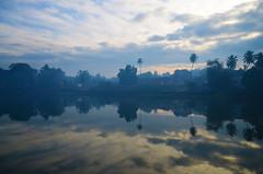 Misty morning (kailas bhopi) Tags: morning india mist reflection nature fog landscape nikon maharashtra konkan sawantwadi kailasbhopi