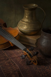 Violin and Ikat - version 2