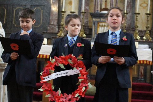 Group with wreath