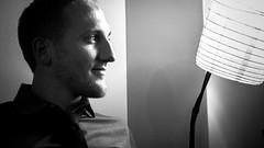 Male model Paul (Claudio.Recanatini) Tags: white black male intense model profile