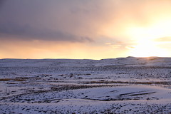 Winter atmosphere... (Leoniedas) Tags: winter light sunset usa snow west nature america landscape frozen utah moab widerness atmophere