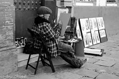 El Pintor (Jotaefe_) Tags: espaa sevilla spain gente seville andalucia bn pintor pintores artista tradicin bohemio