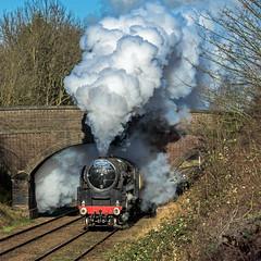 Steam! (4486Merlin) Tags: england europe leicestershire unitedkingdom transport steam railways midlands gbr greatcentralrailway heritagerailways 92214 exbr charnwoodwaterloughborough brstd9f2100 christmasholidaytrains