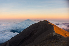 Summit of Agung (Bali Adventure Guide) Tags: shadow bali sunrise volcano mount agung