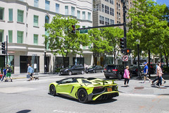 Aventador SV Roadster (Hertj94 Photography) Tags: lamborghini aventaodr lp720 4 roadster downtown chicago gold coast rush street june 2016 canon t3