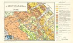 Carta geologica del bacino del Metauro e delle regioni limitrofe (Aerofototeca Nazionale - ICCD) Tags: map cartography geography italy marche umbria italian geografia cartografia river hydrography fiume geografica geology geologia italiana