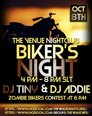The Venue - Bikers Night Oct 8th Flyer (AddisonLynnRose Residnet) Tags: second life sl virtual nightclub club event events party bikers night motorcycle nightlife the venue