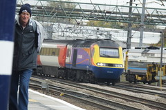 class 43 + random man (Callum.Barker57) Tags: train choochoo man