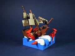 Sea monster attack-3 (LEGO 7) Tags: sea monster attack ship lego
