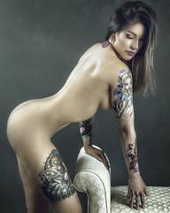 Ink Star: Chi Hopeful (Ian_Arneson) Tags: tattoos ink model beauty portrait portraiture strobist nikon gorgeous love passion conceptualphotography