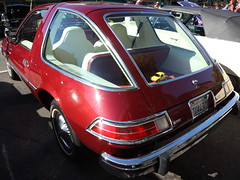 before distortion correction (1600 Squirrels) Tags: 1600squirrels photo 5dii lenstagged canon24105f4 classic car automobile show downtownalamedaclassiccarshow parkstreet alameda alamedacounty eastbay sfbayarea nocal california usa amc pacer coupe