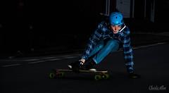 NIGHT RIDE (charlieallen.77) Tags: skate skatebaording longboard longboarding downhill light lighting flash strobe night sport action