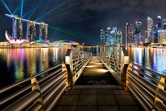 Wonder full show (harrysio) Tags: nikond800 ops opsphotosafari orophotographicsociety singapore lasershow marinabaysands bridge platform architecture buildings