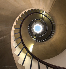 Spiral 2 (MixPix ) Tags: spiral staircase cambridge uk stjohns college abstract perspective