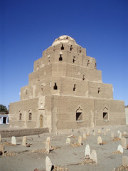 Sufi mosque in Kweka (nubianimage) Tags: nubia nubianimagearchive kweka sudan religion mosque islam sufi pyramid mudbrick sheikh qubba