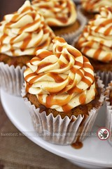 Pumpkin Cupcakes with Maple Cream Cheese Frosting and Salted Bourbon Caramel Sauce (jamieanne) Tags: pumpkin pumpkinspice cupcakes pumpkincupcakes creamcheese creamcheesefrosting maplecreamcheese maple maplesyrup saltedcaramel caramel bourbon bourboncaramel saltedbourbon autumn halloween sweet baking dessert