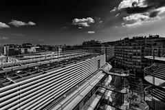 Barcelona skyline 2 (Andr Delhaye) Tags: canon80d canon1018mm wideangle andredelhaye barcelona catalua catalunya espaa spain cityscape landscape blackandwhite monochrome