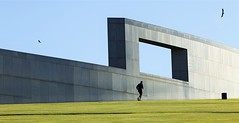 the running man (Keith Midson) Tags: canberra man running jogging parliament parliamenthouse architecture structure bird australia