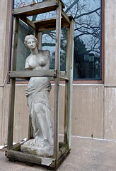 """Venus on the Road Again,"" Sculpture by Neda Miranda Blazevic needs a good cleaning, St. Catherine U. campus, St. Paul (ali eminov) Tags: stpaul minnesota universities stcatherineuniversity museums galleries catherinegmurphygallery artists sculptors nedamirandablazevic sculptures venusontheroadagain twincities"