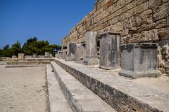 Fountain Square (lGBSl) Tags: ancient square plinth steps greek kameiros island city greece column pillar rhodes fountain