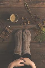 (CarolienCadoni..) Tags: sonyslta99 sal85f14z 85mm socks still photography coffee autumn cosy
